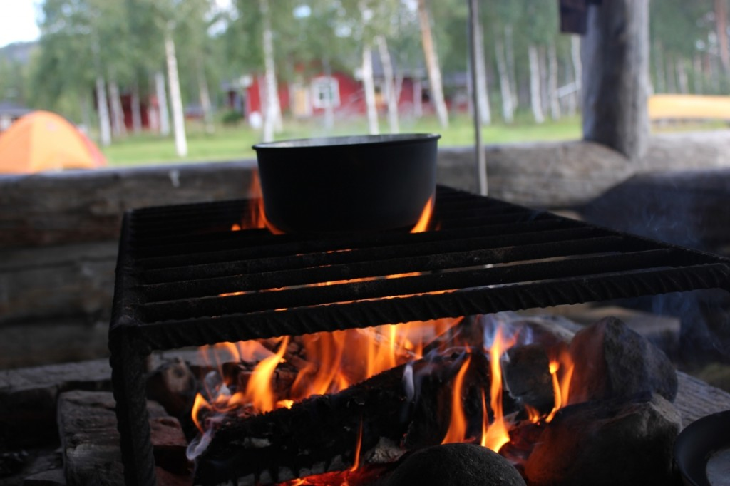 Cooking at Pyhäjärvi